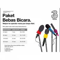 Paket Telp & SMS Three - Paket Nelpon (open jam 07.00-23.00) - Three Pkt Nelpon 150mnt 30hr AllOp